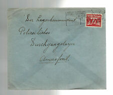 1941 Rotterdam Holland Cover to Commandant Amersfoort Concentration Camp KZ