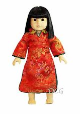 "ROSA CHINESE DRESS - RED Outfit for American Girl 18"" Dolls Ivy Asian"