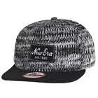 New Era 9fifty Fleckle Crown Black & White Knitted Snapback 950 Hat Cap