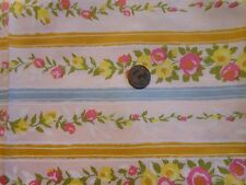 VINTAGE COTTON QUILTING FABRIC-PINK&YELLOW FLORAL STRIPE TARNMOOR FABRIC  BTY