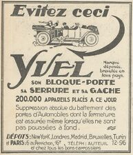 Z9857 Bloque-Porte YVEL -  Pubblicità d'epoca - 1924 Old advertising