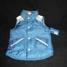 New with Tags Boys 24 Month Genuine Kids Oshkosh Vest Reversible Blue Camouflage