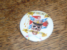 THE SOUTH WILL RISE AGAIN USA South pin badge RARE stainless banner skull cowboy