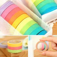 10Pcs Washi Rainbow Sticky Paper Masking Decorative Adhesive Tape