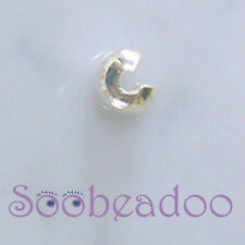 500 3mm Crimp Cover Covers Silver Plate