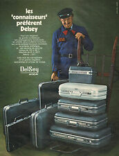 Publicité Advertising 1972  Delsey valises bagages maroquineries