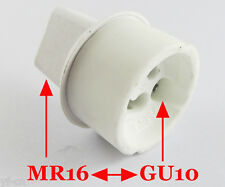 10x MR16 Male to GU10 Female Socket Base LED Halogen CFL Light Bulb Lamp Adapter