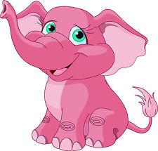 PREMIUM Autoaufkleber Elefant rosa - pink Auto Aufkleber Sticker Motorrad Kinder