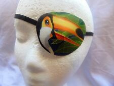 Woman's handmade eye patch/ Tropical Birds theme/vision care/2 Styles available