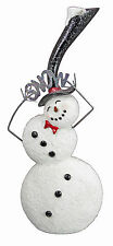 "CHRISTMAS DECORATIONS -  ""LET IT SNOW"" SNOWMAN WITH TOP HAT"