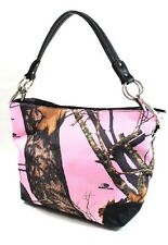 MOSSY OAK LICENSED PINK CAMOUFLAGE BUCKET PURSE,  CAMO HANDBAG
