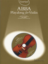 Abba Playalong for Violin Sheet Music Book with Play-Along Backing Tracks CD