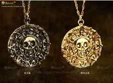 JACK SPARROW AZTE  Pirates of the Caribbean Gold Coin Medal Necklace Elizabeth