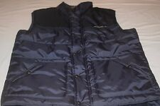 Eddie Bauer Adventure Blue Puffer Vest  Mens L Large LT Tall New Fall Winter Ski