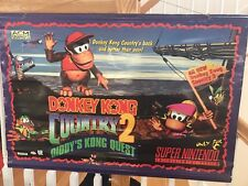Donkey Kong Country 2 Promo Banner 1994 - Official Nintendo Display SNES Dixie