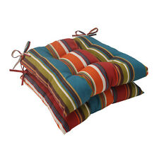 Patio Furniture Seat Cushions Lawn Chair Outdoor Set 2 Tufted Weather Resistant