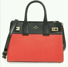 NWT Kate Spade LUNA DRIVE Small Willow Satchel Crossbody Black Red Leather RARE!