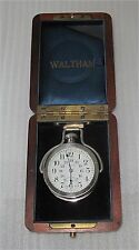 Waltham Pocket Watch Canadian Pacific Railway CPR 17j-5 pos. 18 size, sunk dial