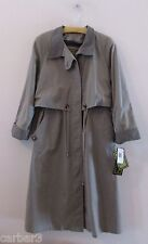 NWT Fleet Street Petite Long Tan Trench Coat w/Removable Lining Sz 6P