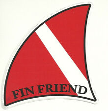 Scuba Dive -FIN FRIEND   VINYL DECAL WITH UV PROTECTION *  NEW  ITEM *