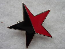 ANARCHO SYNDICALIST Badge / RDF/ POLITICAL/ PUNK/ Enamel, Novelty/ Message