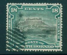 [JSC]1894 NORTH BORNEO, SCOTT #60, 18c.VALUE LOCAL SCENES MT. KINABALU