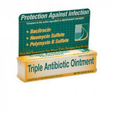 Triple Antibiotic Ointment .33 oz bacitracin, neomycin sulfate, polymyxin B