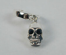 TummyToys® Navel Belly Ring with Sterling Silver Skull Charm 14mm Free Ship