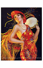 Pin Up Girl Poster 11x17 Gypsy Fortune Teller Flapper Art Deco exotic