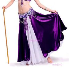 New Belly Dance Costume 2 layers with one slit Skirt Dress 8 colors