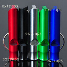2pc Aluminum Alloy Whistle Keyring For Outdoor Emergency Survival Safety Tool PS
