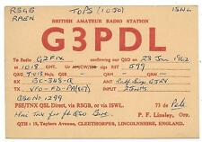 LINCOLNSHIRE - CLEETHORPES 1962 QSL Transmission Confirmation Card G3PDL