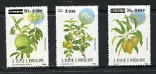 St Thomas & Prince Islands #1358-60 (ST122) Complete overprinted Fruit,MNH,FVF