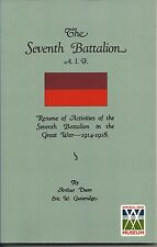 1933 History of 7th Battalion AIF 1914-19 GALLIPOLI ANZAC SEVENTH WESTERN Front