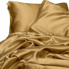 Satin Sheets King Size GOLD Silk Feel Beautiful Luxury Bedding Set NEW Silky Bed