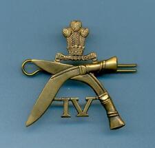 4th GURKHA RIFLES.BRASS ARMY CAP BADGE