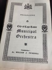 G7-1 Programme Sth Africa City Of Cape Town Municipal Orchestra July 9th 1944
