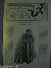 Ladies Fashion Dress Hats Costume Clothes Women Antique Victorian Article 1897