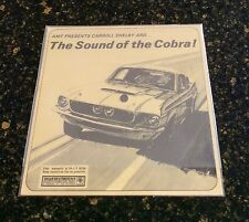 The Sound of the Cobra record Narrated by Carroll Shelby NOS CS Shelby Autosport