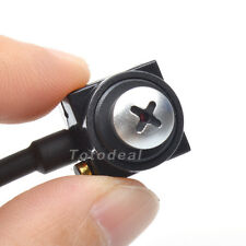 600TVL Mini HD CCTV Button Hidden Pinhole camera Home Security Cam Wired Audio