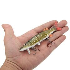 "5""/12.5cm Lifelike Pike Muskie Fishing Lure Swimbait Crankbait Hook Tackle B8O3"