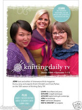 NEW! Knitting Daily TV Series 1000 with Eunny Jang [DVD]