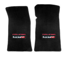 NEW! Ebony Black floor mats 2011-2014 Challenger Embroidered SRT8 DOUBLE Logo
