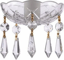 Asfour Crystal 30% Lead Crystal Bobeche Lamp Chandelier Parts With Gold Bowtie