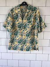 Para Hombre Urbano Vintage Retro Ibiza Playa brillante audaz hawaiano Camiseta Floral Reino Unido M #44