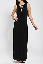 Sparkle & Fade- Ladies Slashed V Front Maxi Dress S NEW!