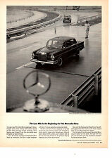 1963 MERCEDES-BENZ 300SE  ~  ORIGINAL BLACK & WHITE PRINT AD