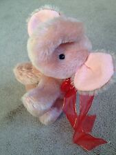 Wonderful Annette Funicello Pink Mohair Elephant Jointed Head Cute Excellent NR