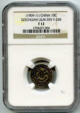 China 1909-1911 Szechuan 10 Cents NGC F-12 (Undergraded!)