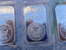 1 oz. APMEX Silver Eagle art bars .999 fine silver sealed